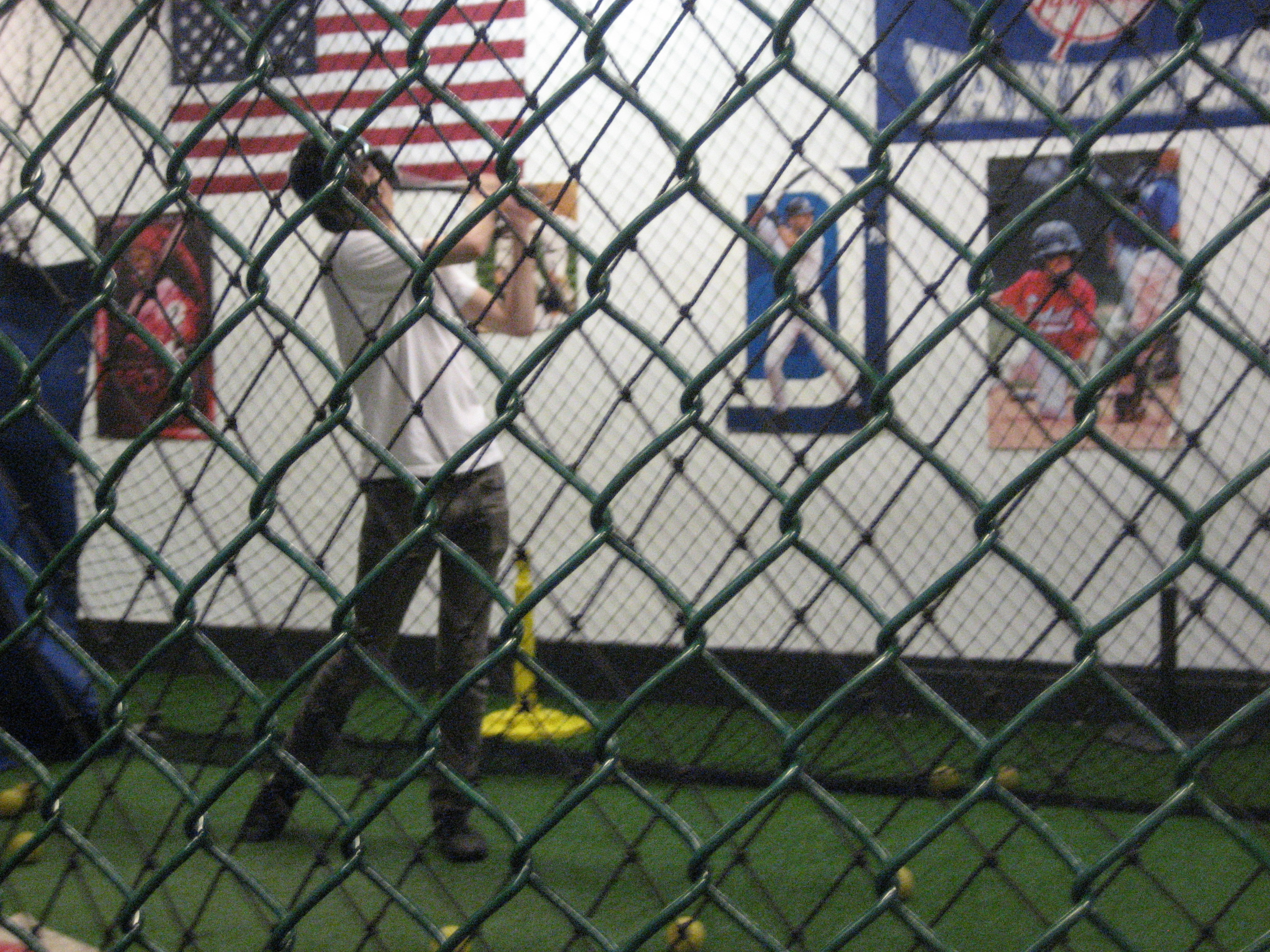 Kenneth taking a swing at The Baseball Center NYC